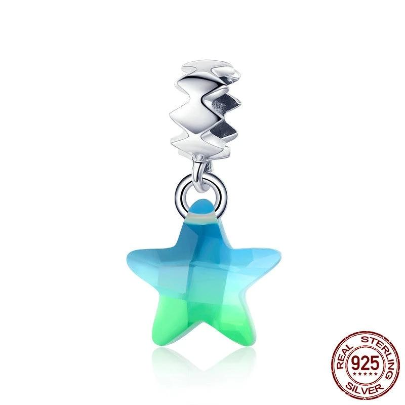 Gradient Star Charm, 925 Sterling Silver