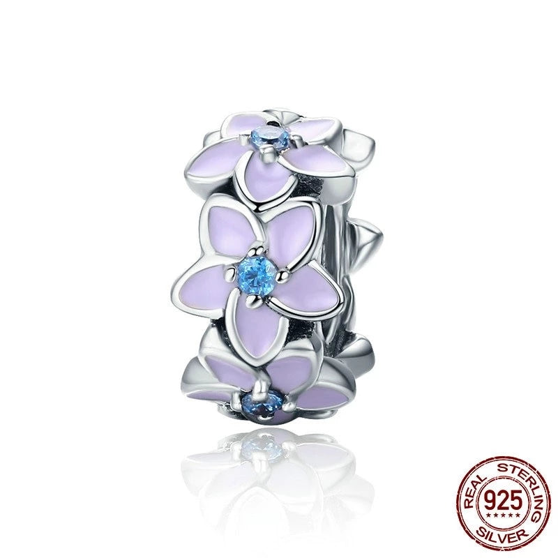 Darling Daisies Spacer Charm, 925 Silver