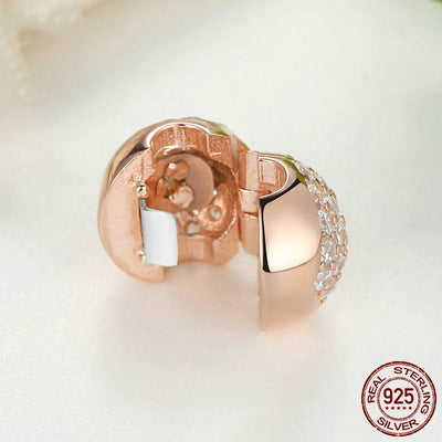 Love Of My Life Rose Gold Clip, 925 Silver, CZ
