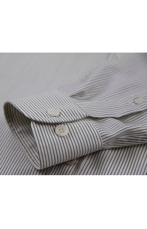 Wolk - Merino Wool Shirt - Alex Black stripe