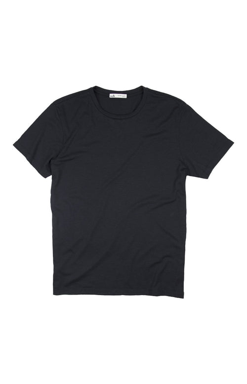 Wolk- durable Merino T-shirt-black round neck