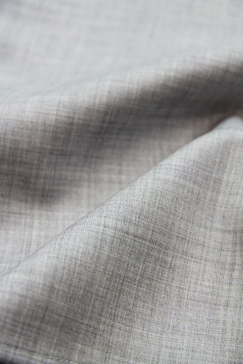 grey melange merino wool woven fabric