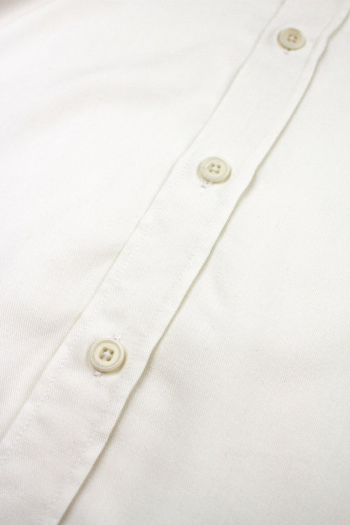 white merino shirt white corozo buttons
