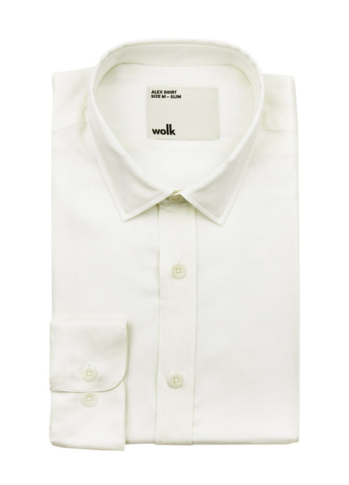 folded Wolk merino wool shirt in color white