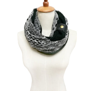 White Navy Knitted scarf