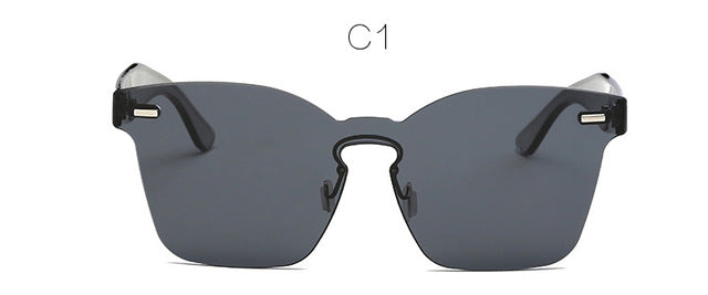 Luxury Rimless Square Sun Glasses