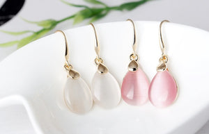 Waterdrop-Shape Drop Earrings