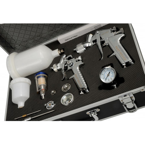 FMT4005 Spray Gun Kit, Full Size 600cc Gravity Gun + Mini HVLP Gun