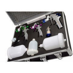 FMT4011 Spray Gun Kit & Accessories In Case 3 x Guns
