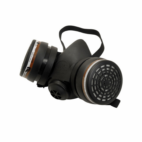 FMT4352 Half Mask Fitted With 2 x A1 Cartridge Filter (P3 Rated)