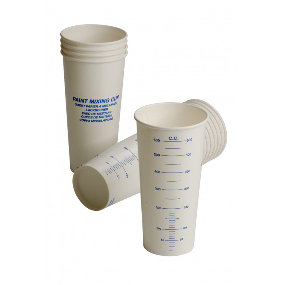 FMT5600/900 Paper Paint Mixing Cup 600cc Marked Box Of 100 or 900