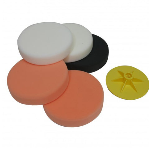 FMT6094 Compounding/Polishing Pad kit with backing pad, 150mm x 30mm, 5pcs