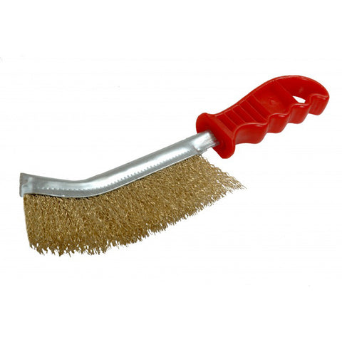 FMT9834 Hand Wire Brush With plastic Handle, 12 Pack