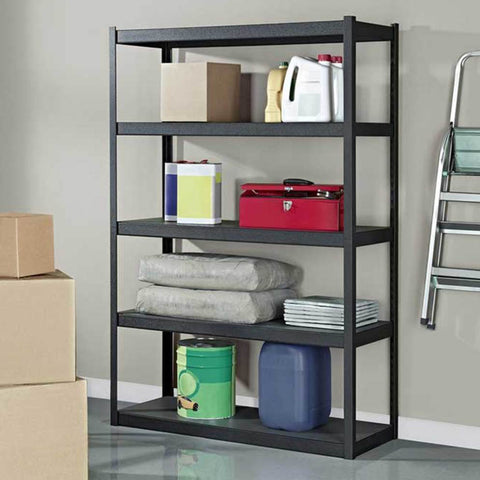 E002 Paint Storage Shelf Rack with 5 Shelves, 121cm
