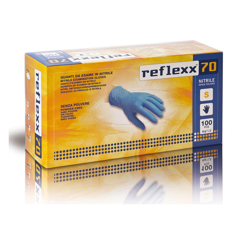 Reflexx70 Nitrile powder free Gloves, Box of 100