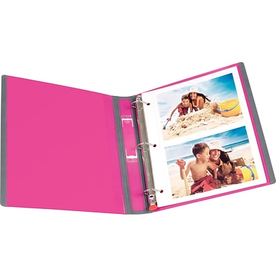 staples better view 1 inch d ring binder pink shahnawaz stationers