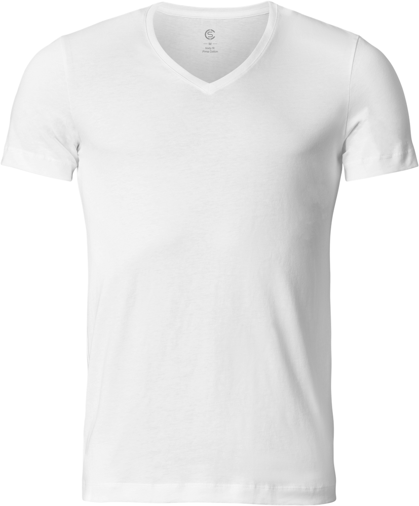 Sir Henry - V-Neck Quality T-Shirt - White - 360