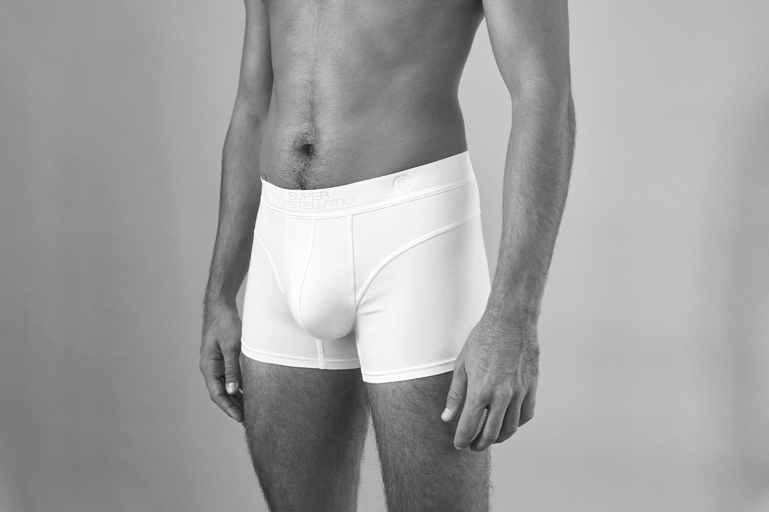 Sir John - Functional Boxer Trunk - White - Detail