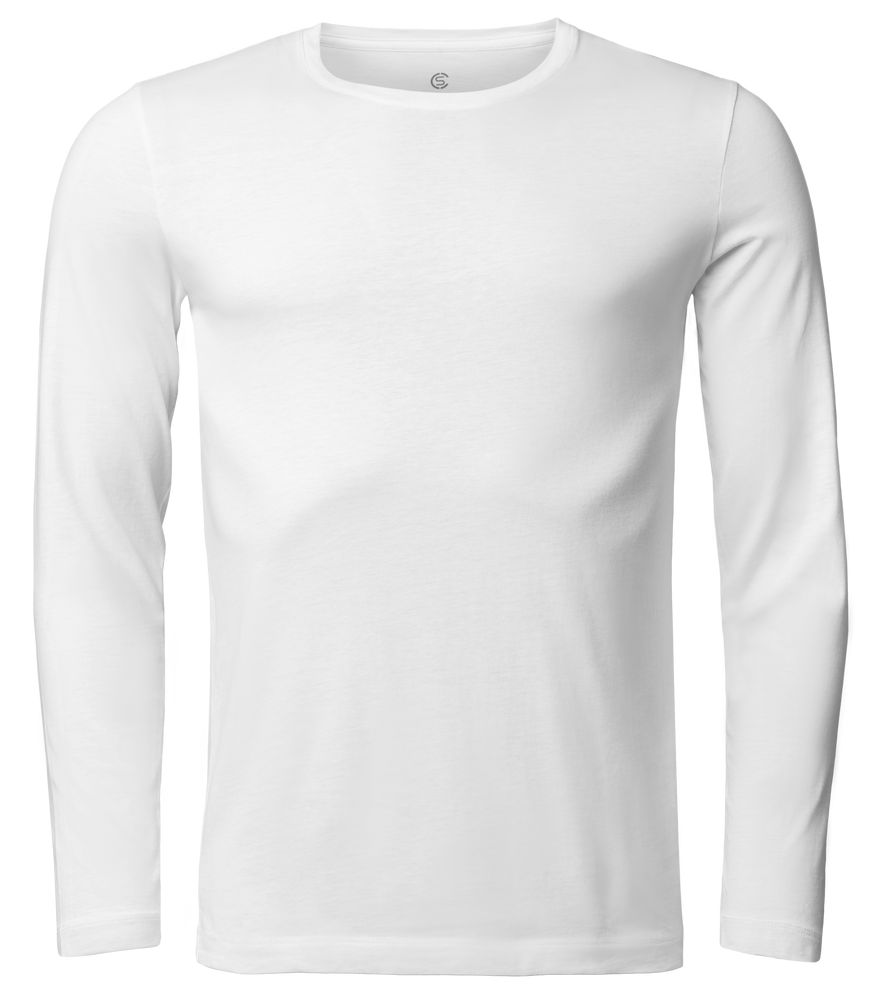 Sir Max Long - Long Sleeve Round-Neck T-Shirt - White - 360