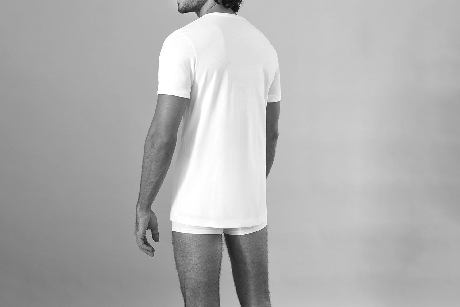 Sir Max - Round-Neck Quality T-Shirt - White - Detail