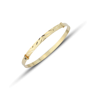 Kids 9ct Gold Chevrons Bangle