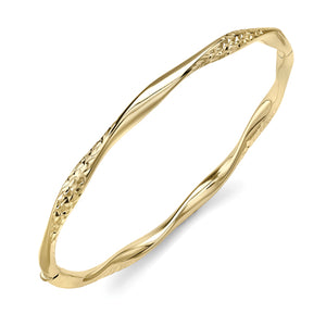 9ct Gold Kisses with a Twist Bangle