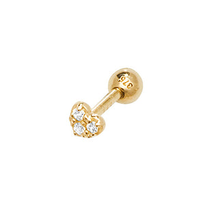 Ear Candy 9ct Gold CZ Heart Cartilage Stud