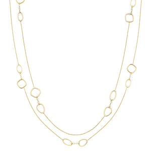 9ct Gold Long Chain with Open Shapes