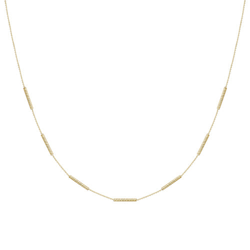 9ct Gold Necklace with Twist Bar