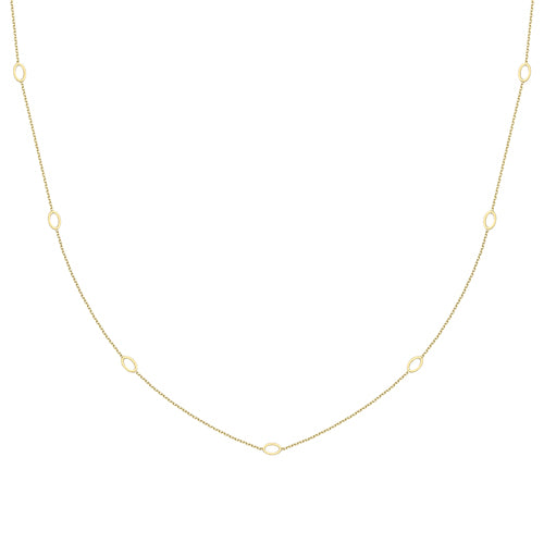 9ct Gold Necklace with Open Ovals
