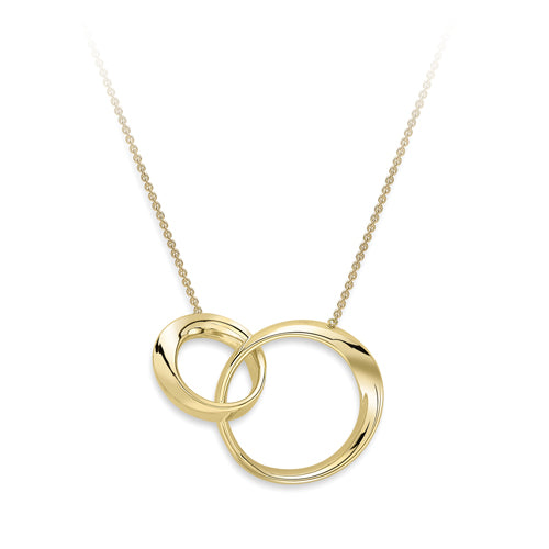 9ct Yellow Gold Unity Necklace with a twist
