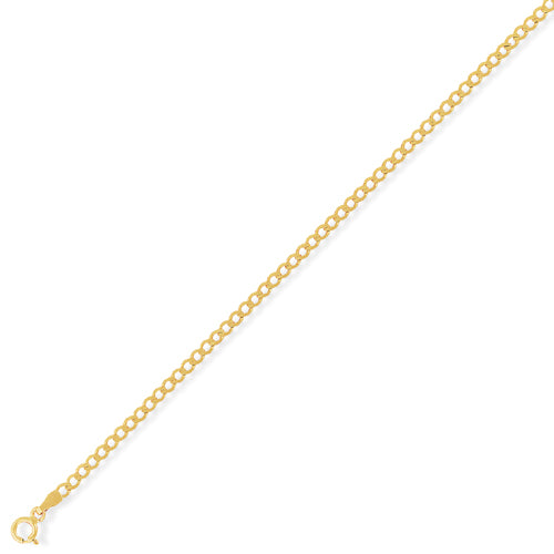 9ct Gold Flat Open Link Curb Chain
