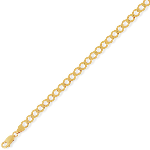 9ct Gold Curb Chain - Heavy Look - 22