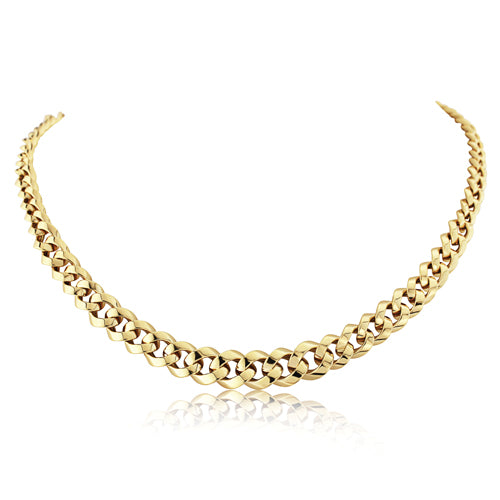 9ct Gold Chunky Graduated Curb Necklace