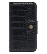 Load image into Gallery viewer, Marvelle Ballroom Black Croco Gold - iPhone 6/6S/7/8