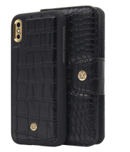 Load image into Gallery viewer, Marvelle Ballroom Black Croco Gold | iPhone X/XS