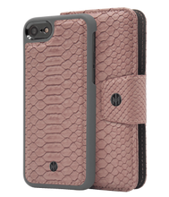Load image into Gallery viewer, Marvelle Ash Pink Reptile Gun Metal - iPhone 6/6S/7/8