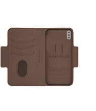 Marvelle Walnut Dark Brown Smooth Silver | iPhone X/XS