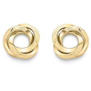 9ct Gold Trinity Knot Earrings