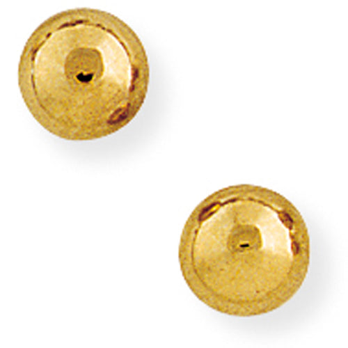 9ct Yellow Gold 6mm Ball Stud Earrings