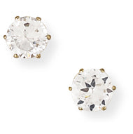 9ct Gold Claw-set 5mm CZ Earrings