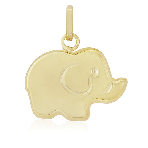 9ct Gold Elephant Gold Charm