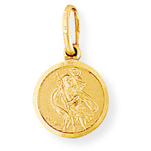 Load image into Gallery viewer, 9ct Gold St Christopher Medal Necklace - Small