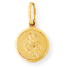 9ct Gold St Christopher Medal Necklace - Small