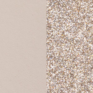 Les Georgettes 25mm Leather Cream / Gold Glitter