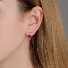Load image into Gallery viewer, Victoria Cruz Celeste Pink & Red Earrings