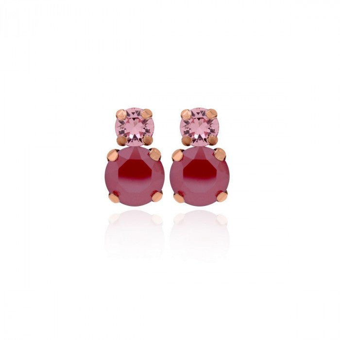 Victoria Cruz Celeste Pink & Red Earrings