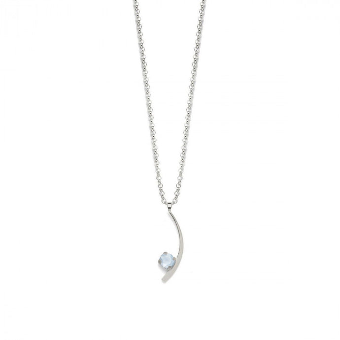 Victoria Cruz Selene Powder Blue Necklace