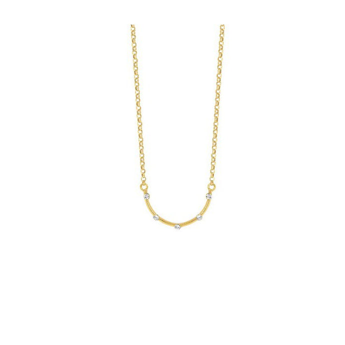 Victoria Cruz Iris Semi Circle Necklace