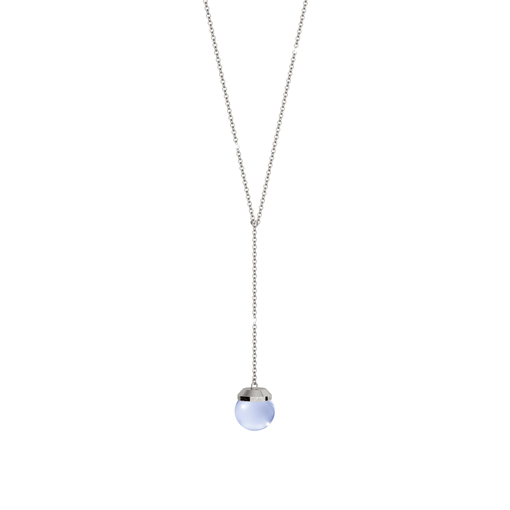 REBECCA Hollywood Stone Necklace - Lariat Lavender